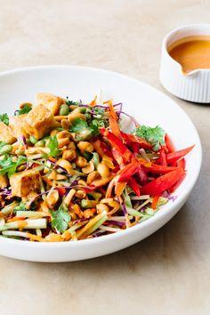 Recipe: Tofu and Broccoli Salad with Peanut Butter Dressing — Sunday Night Salads