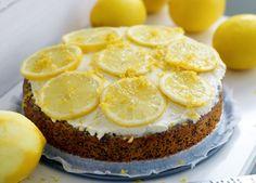 Glutenfri citronkaka med vallmo