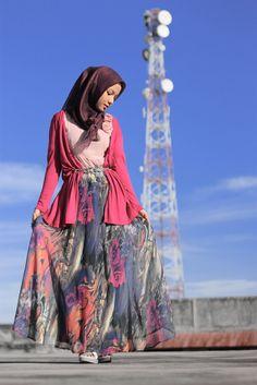 Purple Hallway #hijab#muslimah fashion