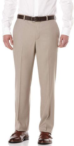 Perry Ellis Big and Tall Bengaline Portfolio Dress Pant Mens Big And Tall, Big & Tall, Tall Pants, Khaki Pants, Perry Ellis, Dress Pants, Dresses, Fashion, High Waist Pants