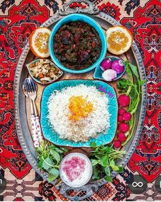 Sa palagay namin baka magustuhan mo ang mga Pin na ito - Inbox - Yahoo Mail Iranian Dishes, Iranian Cuisine, Afghan Food Recipes, Baby Food Recipes, Iran Food, Lebanese Recipes, Exotic Food, Food Decoration, Middle Eastern Recipes