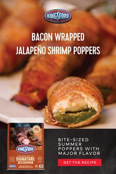 Shrimp Recipes For Dinner, Seafood Recipes, Appetizer Recipes, Smoking Recipes, Bacon Wrapped, Healthy Eating, Clean Eating, I Love Food, Soul Food
