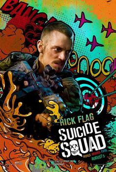 Suicide Squad posters : Joel Kinnaman est Rick Flag