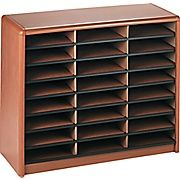 174.99 Shop Staples® for Safco® Value Sorter Literature Organizer, 24 Compartment, 32 1/4'' x 13 1/2''x 25 3/4'', Medium Oak. Enjoy everyday low prices and get everything you need for a home office or business.