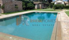 Gorgeous Property for Rent near Athens - RhoaHomes Bbq Cover, Blue Pool, Double Glazed Window, Unique Architecture, Storage Places, Spacious Living Room, Garden Pool, Property For Rent, Lounge Areas
