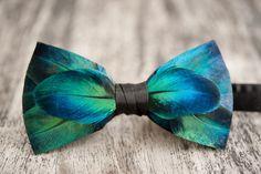 Feather bow tie by Brackishbowties