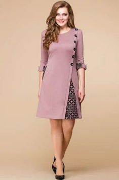 10 Source By Walaaegbaria Dresses Fashion Ideas Latest African Fashion Dresses, Women's Fashion Dresses, Hijab Fashion, Fashion Fashion, Simple Dresses, Casual Dresses, Umgestaltete Shirts, Office Dresses For Women, Batik Dress