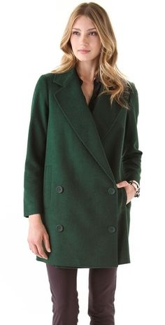 definitely want a hunter green coat for fall