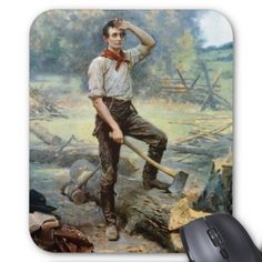Abe Lincoln -- The Rail Splitter Mouse Pad
