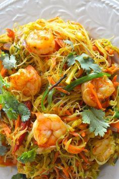 Singapore Noodles (Singapore Mei Fun) #ricenoodles