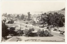 Forest Avenue and the old lumber yard. Orange County California, Vintage California, Southern California, San Luis Obispo County, California History, Laguna Beach, Historical Society, Dolores Park, Street View