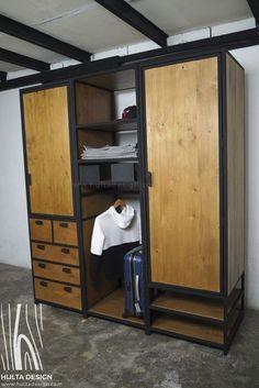 Welded Furniture, Deck Furniture, Pipe Furniture, Steel Furniture, Industrial Design Furniture, Industrial Style, Furniture Design, Loft Bed Plans, Diy Wardrobe