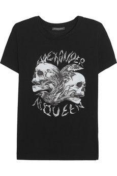 Alexander McQueen Skull-print cotton T-shirt | NET-A-PORTER