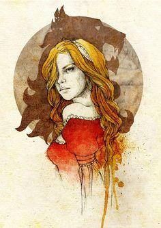 Queen Cersei Lannister, by Elia Mervi