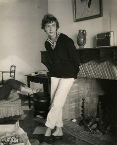 1955. Françoise Sagan, photo Boris Lipnitzki.