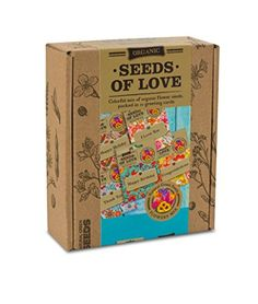 SEEDS OF LOVE - Colorful Mix of Organic Flower Seeds Packed in 10 Greeting Cards by VREMI TM