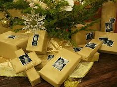 Wrap xmas and birthday gifts with pic of person its to! #genius