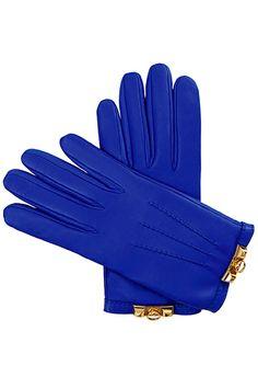 Hermès cobalt blue gloves