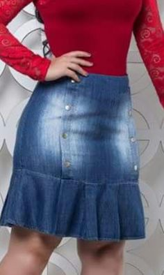 29 Colorful Outfits To Add To Your Wardrobe Denim Skirt Outfits, Chic Outfits, Fashion Outfits, Mode Wax, Pencil Skirt Casual, Casual Fashion Trends, Colourful Outfits, Colorful Fashion, Elegant Outfit