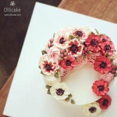 #Buttercream #flowercake