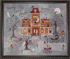 Ravenmoon Hall - Cross Stitch Pattern  by Praiseworthy Stitches