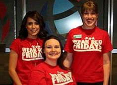 Global's Staff, three of whom are pictured above, will be wearing red every Friday through Labor Day, to recognize American troops fighting for our freedoms. #kxly #globalcreditunion #wearredfridays