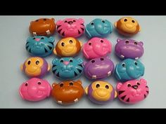 Learn Colours Opening Animal Surprise Eggs! Filled with Candy, Gum and Fun! - YouTube