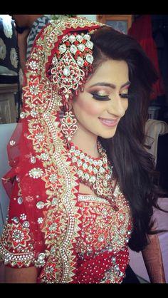 Indian Bridal Makeup - Pink Metallic Smoke and Wing