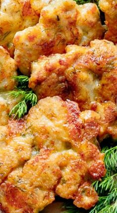 Tender Chicken Fritters - Cheese in the batter forms part of the outer crust and a creates an irresistible cheese pull as you bite into them.