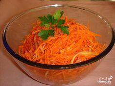 Популярный легкий салат Морковь по-корейски. Домашний рецепт приготовления пряной корейской морковки.