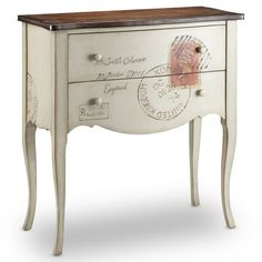I want to do this with my hall table - I bet my Mom could paint the stamp image...hmmmm - Find it at the Foundary - Postage Painted Hall Chest