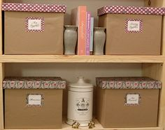 DIY and Free Download: Covered Storage Boxes!