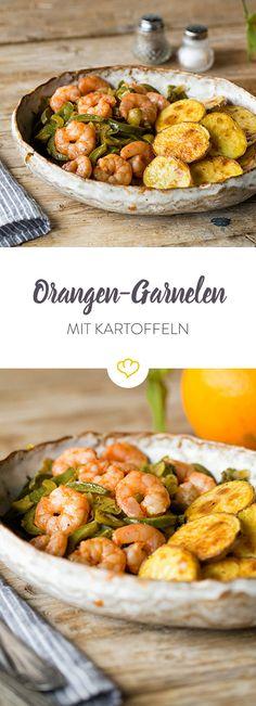 Fruchtig-aromatische Garnele trifft mexikanische Chilischote und knusprige Kartoffelscheiben frisch aus dem Ofen. Gleich ausprobieren!