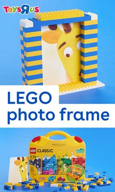 "Smile for the camera then say ""Build!"" 📸 This DIY LEGO photo frame is a great way to showcase their work of art…or your little works of art!"