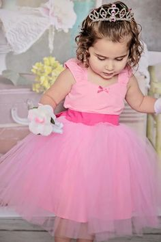 PINK TUTU  DRESS Pink tulle skirt for baby by loverdoversclothing, $55.00