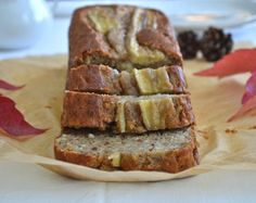 This spelt banana bread is the perfect autumn treat. It is incredibly moist and decadent, and I just love how the amazing smell of banana, cinnamon and nuts spreads throughout our entire apartment . Spelt Banana Bread, Banana Bread With Oil, Spelt Recipes, Banana Bread Recipes, Baking Recipes, Whole Food Recipes, Dessert Recipes, Free Recipes, Healthy Recipes
