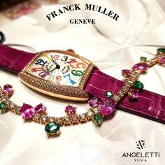 Orologio Franck Muller e bracciale Crivelli: meravigliosamente primaverili. Presso la boutique Angeletti- Roma.