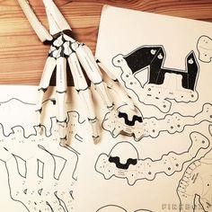 Esqueleto de papel