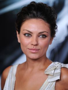Mila Kunis with a tousled updo - click the photo to check out the full Mila hair gallery #MilaKunis #hair #'fashion