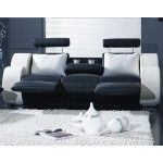 VIG Furniture - Contemporary Black and White Sofa recliners - VGYIT17   SPECIAL PRICE: $2,289.00