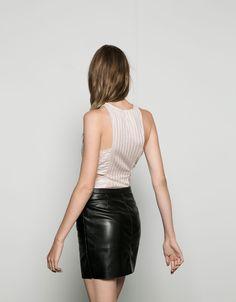 Body Bershka brillante corte cintura - Tops & Bodies - Bershka España
