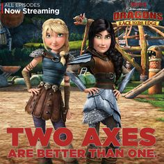 Heather and Astrid are the toughest of warriors, and the truest of friends. Join them on new battles and adventures on Dragons: Race to the Edge. #DreamWorksDragons