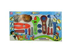 Bulk Buys OC749-4 Kids Tool Play Set -- Visit the image link more details.