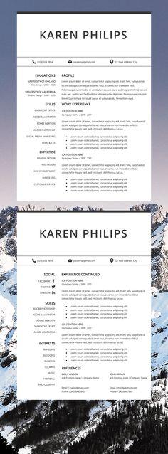Resume Template Microsoft Word Professional CV Layout Marketing