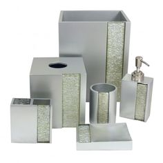 Silver Damask Bathroom Accessories Bathroom Accessories