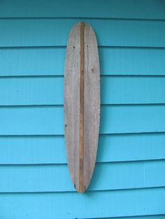 Items similar to Surfboard made of recycled fence wood. longboard, surf, outdoor art on Etsy Wooden Surfboard, Surfboard Art, Surf Kunst, Wood Animals, Paper Wall Hanging, Wall Art Crafts, Beach Furniture, Bamboo Art, Butterfly Wall Art