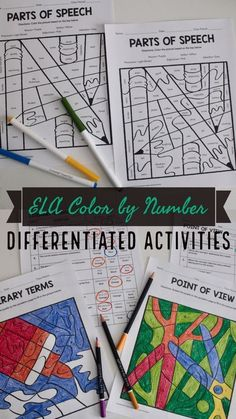 Differentiated ELA Activity: Color by Number Distance Learning Independent Work Sentence Types, Types Of Sentences, First Year Teaching, Teaching Reading, Reading Skills, Teaching Grammar, Reading Workshop, Guided Reading, Middle School Ela