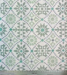 Hand Printed Linen Fabric Half Yard