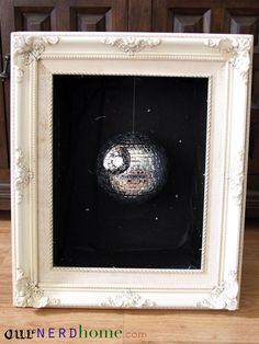 Oh my jawa. This is a freaking DEATH STAR DISCO BALL. I do not think you understand how much I need this in my life. DIY.