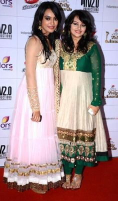 Surbhi jyoti along with neha lakshmi iyer....both in good looking dresses!!:)